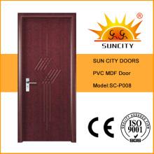 Portes en PVC MDF pour chambre
