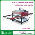 HC-B3-1Hydraulic Style double stations heat press machine