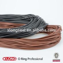 El cordón del anillo O-FKM, el cordón del anillo O-NBR, el cordón del anillo o negro, el cable marrón del anillo o,
