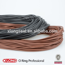 Cordon de joint torique FKM, cordon de joint torique NBR, cordon d'anneau noir, cordon anneau brun, cordon d'anneau rouge,