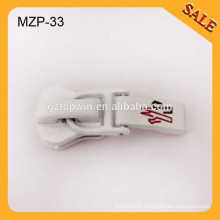 MZP33 2015 fashion metal slider zipper puller with logo for clothes and bag