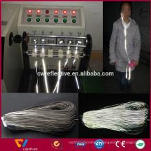 Chine usine argent réfléchissant câble de casque lumineux