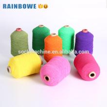 Fil recouvert de caoutchouc polyester élastique coloré pour chaussettes et gants