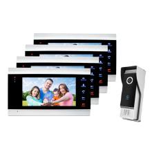 New Released Built in PIR Sensor Silver Entryphone Camera Door Bell with Waterproof Button 4 Wire Video Door Phone