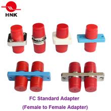 Adaptateur en fibre optique en plastique ou en métal simple Simplex FC