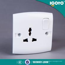 Igoto British Standard E16 nouvelle conception électrique multi 3 broches lumière prise murale