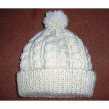 Made to Order Handgestrickter Hut mit POM POM
