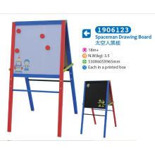 Chevalet en bois avec tableau blanc et tableau noir magnétique pour enfants pour enfants