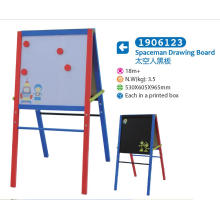 Wooden Easel with Magnetic Whiteboard and Blackboard for Children for Kids