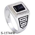 High End Fine Jewelry 925 Anel De Prata Esterlina