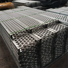 Marches d'escalier industrielles à caillebotis de sécurité en métal