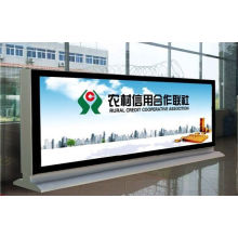 Street Outside Bank Business Advertising Cajas de luz LED de doble cara con desplazamiento lateral