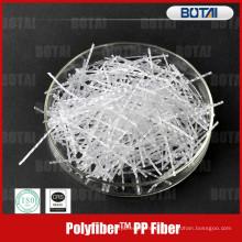 pp fibra para resistência à quebra de concreto