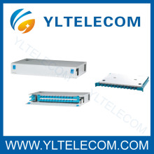 19inch 1U 24Core deslizamiento fibra óptica Patch Panel ODF fijo tipo