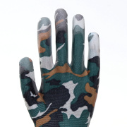 Camouflage pattern Cotton PU Work Protective Gloves