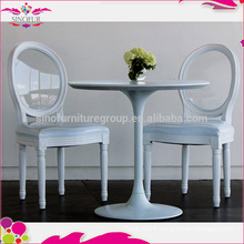 wholesale cheap crystal back white dining chair