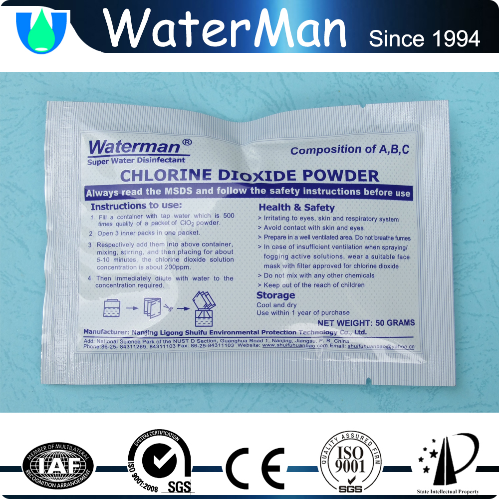 chlorine dioxide industry for odor removal