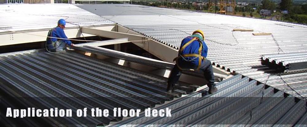 application of the floor deck