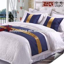Hotel de lujo de 5 estrellas Hotel de alta calidad Elegante 4 piezas Juego de sábanas de cama doble