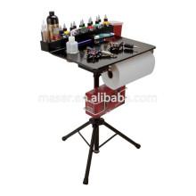 Salon de beauté Organiseur cosmétiques professionnel Support de bureau de maquillage, bac à tatouage pliable Tattoo Funiture