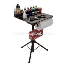 Salão de beleza Professional Cosmetic Organizer Maquiagem Desk Stand, Foldable Tattoo Tinta Tatuagem Funiture