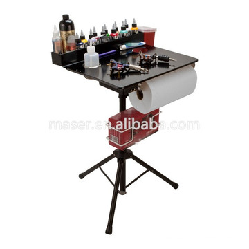 Beauty Salon Professional Cosmetic Organizer Makeup Desk Stand, Foldable Tattoo Ink Tray Tattoo Funiture