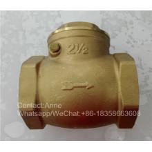 Válvula de verificação horizontal de 1/2 polegada-4 polegadas de bronze (YD-3009)
