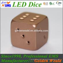 LED rouge vert bleu LED MCU contrôle coloré LED alliage d'aluminium dés