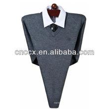 13STC5523 suéter de lã de cashmere com decote em V para homem