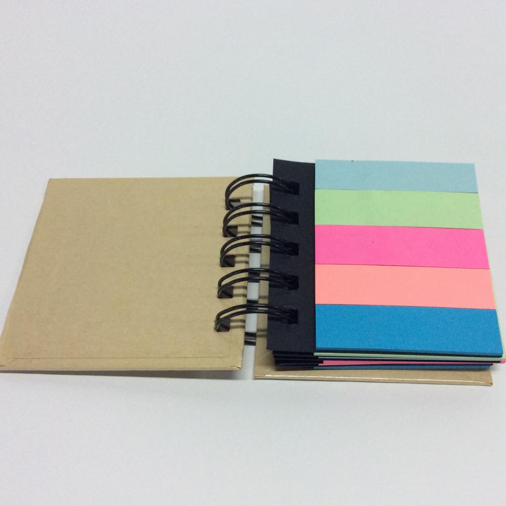 colorful book-shaped sticky note