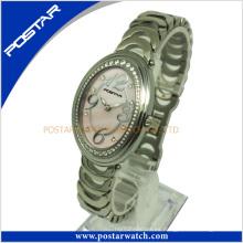 Reloj de cuarzo de moda con banda de acero inoxidable