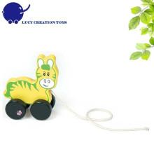 Kleinkind-klassisches Tier-hölzernes Ziehen des Spielzeugs