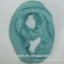 Fashiion nouvelle écharpe en acrylique tricoté à l'infini