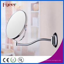 Fyeer atraente rodada parede espelho ampliação latão espelho de maquiagem