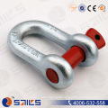 G210 Red Colour Galvanized Us Type Screw Pin D Shackle
