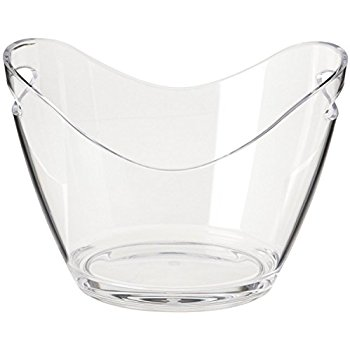 transparent ice bucket whith 2 handles