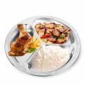 compartimento de alimentos em aço inoxidável 3 compartimentos bandeja de almoço em aço inoxidável divididos