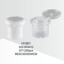 24/410 Пластиковая бутылочная крышка с откидной крышкой