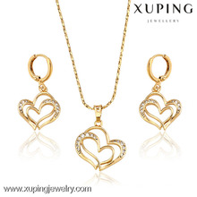 62814 Xuping Fashional Elegant Heart 18K Gold Plated Jewelry Sets