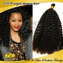 Wholesale Cheap Indian Human Virgin Afro Jerry Curl Bulk Hair