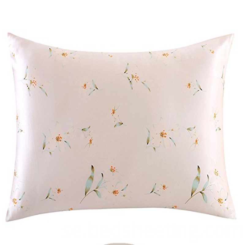 Flower Printed Silk Pillow Shams