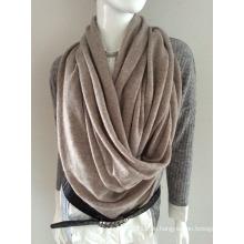 Lady Fashion Beige Cashmere gestrickte Winter Schal (YKY4387-5)