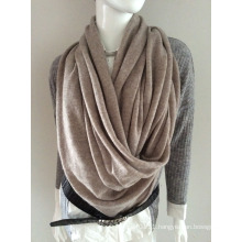 Lady Fashion Beige Cashmere Knitted Winter Scarf (YKY4387-5)