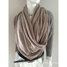 Леди мода бежевый кашемир вязаный зимний шарф (YKY4387-5)