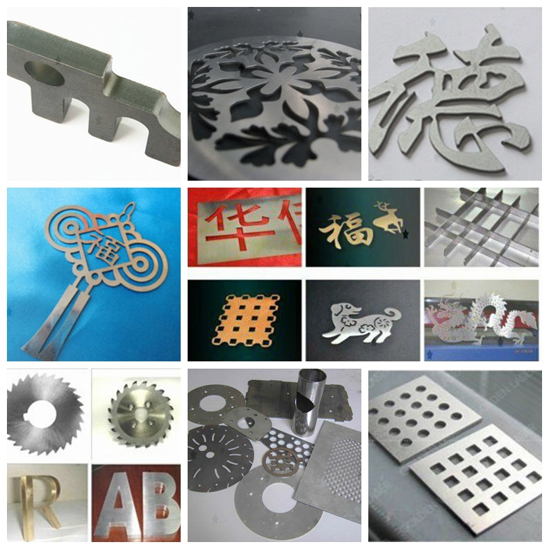 metal and nonmetal laser cutting machine samples