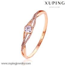 50990-xuping projetos simples 18k banhado a ouro pulseira de diamantes