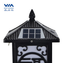 2W led solar column lights outdoor