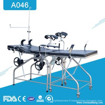 A046 Tableau de lit obstétrique de livraison de gynécologie d'hôpital
