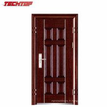 TPS-065 Porte en acier d'entrée de transfert de chaleur en bois couleur métal de sécurité