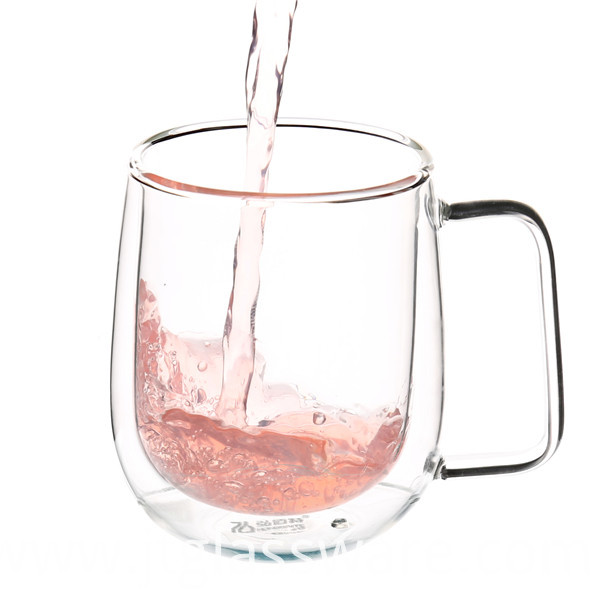 Glass Milk Cup with Handle
